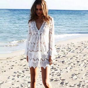 Crochet beach coverups